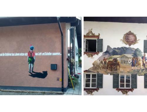 Graffiti meets Lueftlmalerei in Oberammergau