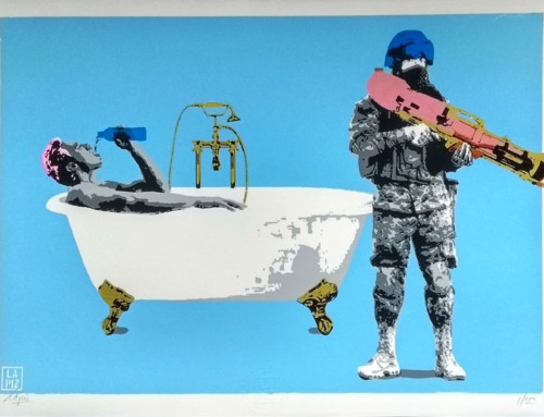 NEW screen print: 'WATER (is a human right)'