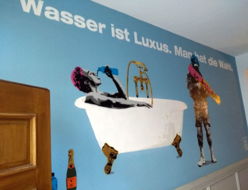 Water is a Luxury – new commissioned wall in Munich